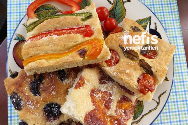 İtalyan Mutfağından Fokaça Ekmeği (Focaccia Bread)