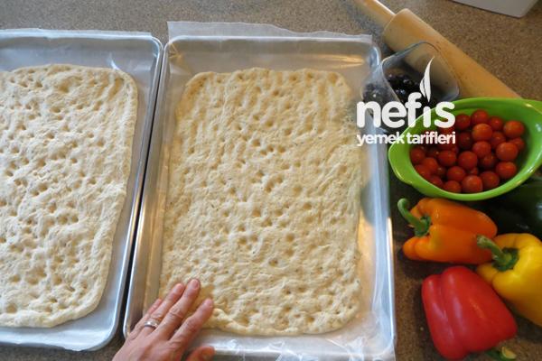 İtalyan Mutfağından Fokaça Ekmeği (Focaccia Bread) 4