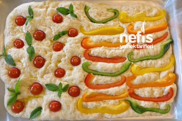 İtalyan Mutfağından Fokaça Ekmeği (Focaccia Bread) 5