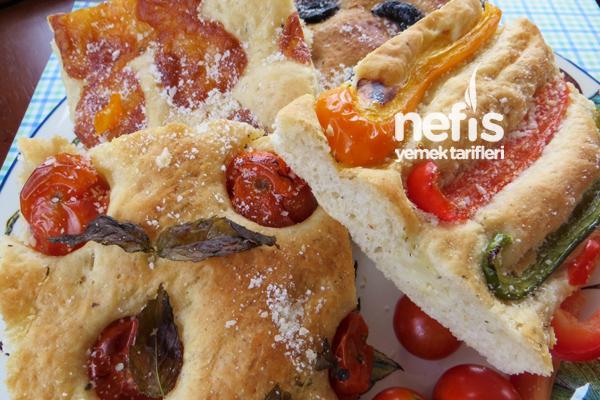 İtalyan Mutfağından Fokaça Ekmeği (Focaccia Bread) 9