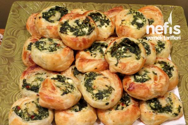 Milföylü Ispanaklı Rulo Börek