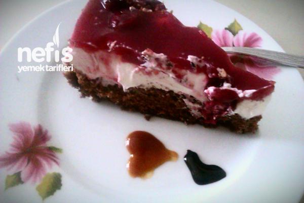 Nefis 10 Dakika Pastası (Vişneli Soğuk Pasta) 5