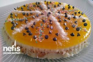 Portakal Jöleli İrmikli Pasta Tarifi