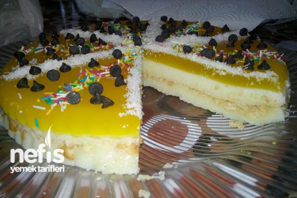 Portakal Jöleli İrmikli Pasta 3