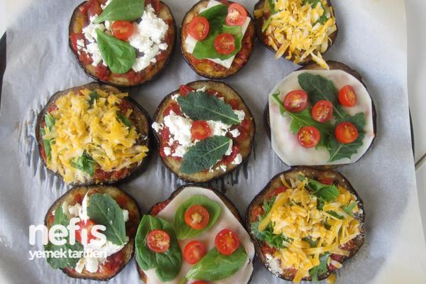 Fırında Süslü Patlıcan Dilimleri 6