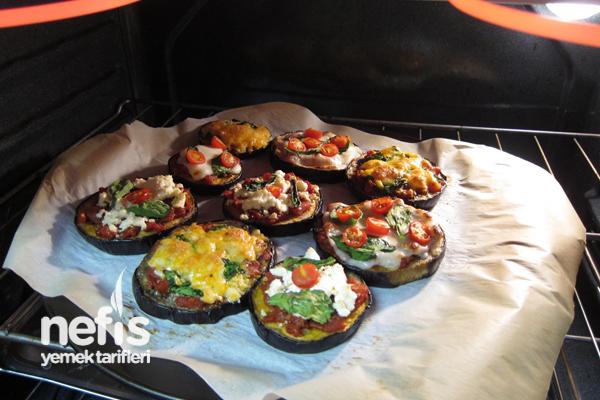 Fırında Süslü Patlıcan Dilimleri 7