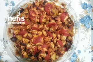 Fırında Tavuklu Patlıcan Kebabı Tarifi