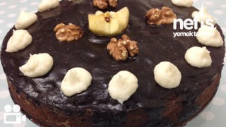Elmalı Tarçınlı İç Dolgulu Kakaolu Kek Videosu Tarifi