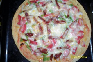 Yulaf Kepeği Krepinden Diyet Pizza Tarifi