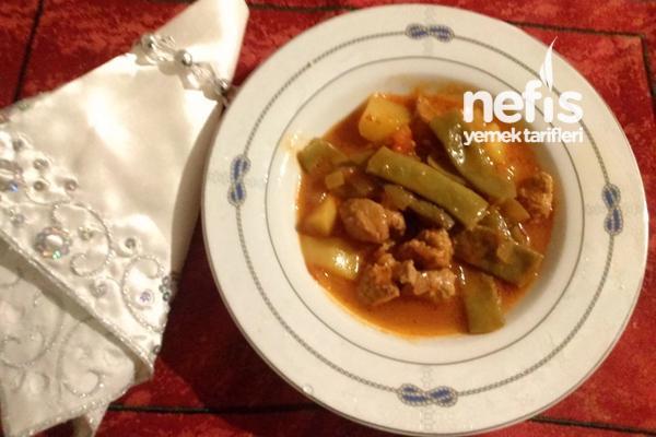 Etli ve Patatesli Taze Fasulye Yemeği Tarifi