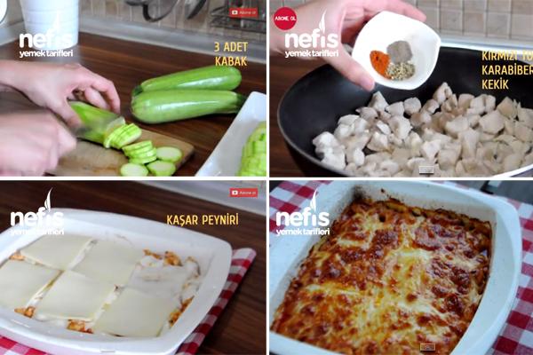 Fırında Tavuklu Kabak Yemeği Tarifi 2