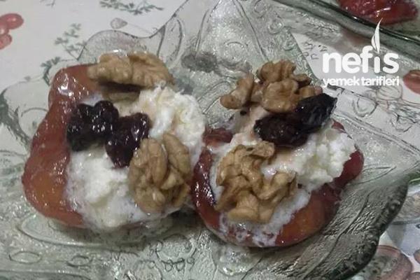 Fırında Vişneli Elma Tatlısı (Diyabetliler İçin Uygun) Tarifi