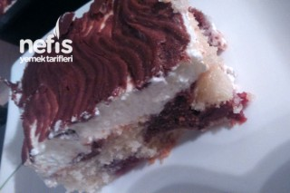 Kirazlı İki Renk Pasta Tarifi