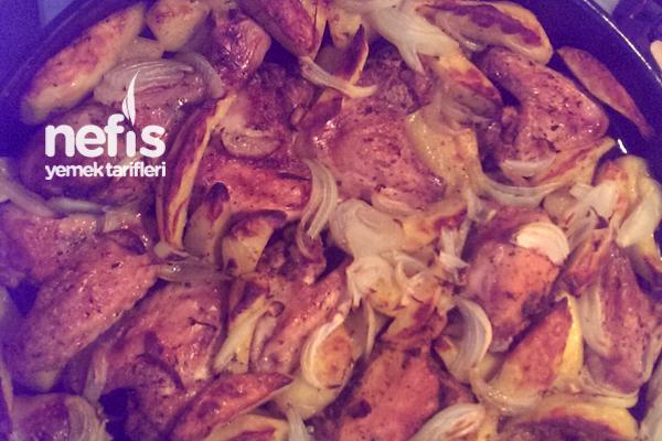 Tavada Kanat ve Patates Tarifi