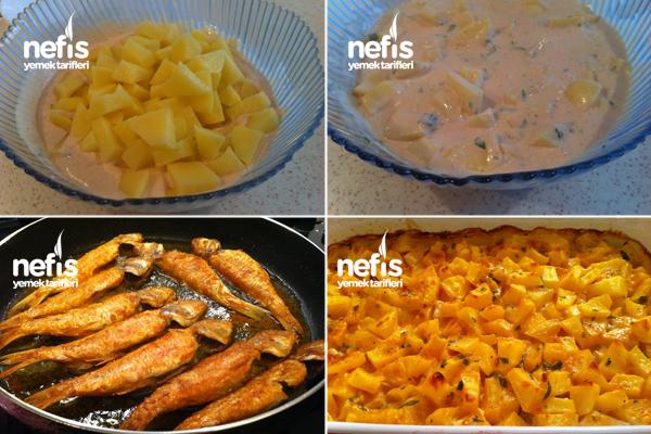 Balık Yanına Lezzetli Fırın Patates 2