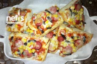 Bayat Ekmek İle Dilim Pizza Tarifi
