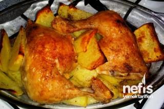 Fırında Patatesli Tavuk Kızartma Tarifi