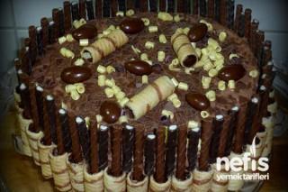 Gofretli Yaş Pasta Tarifi