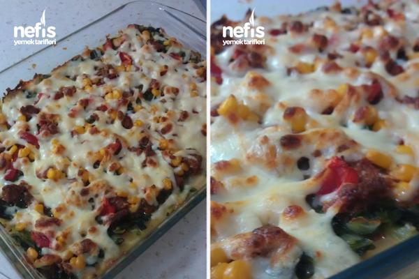 Ispanaklı Patates Pizzası Tarifi