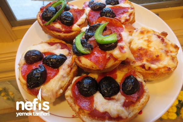 Kepekli Sandviç Ekmeğinde Pizzacıklar 5