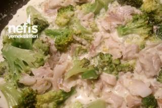 Kremalı Brokolili Balık Makarna Tarifi