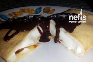 Nefis Kremalı Krep Pasta Tarifi