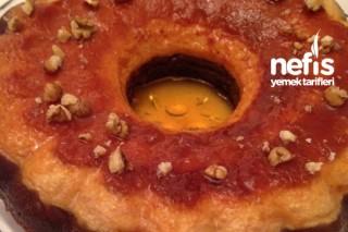 Portakallı Krem Karamel Kek Tarifi