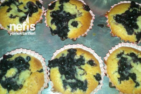 Yaban Mersinli Muffin Tarifi