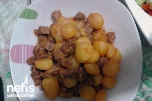Minik Patatesli Etli Yemek Tarifi