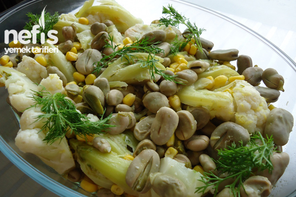 Baklalı Karnabahar Salatası Tarifi
