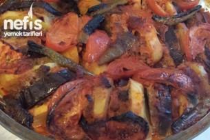 Patlıcanlı Patatesli Fırın Kebabı Tarifi