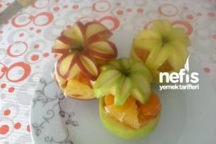 Çiçekli Meyve Tabağı (Süslü Meyve Servisi) Tarifi