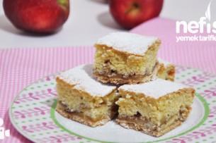 Bisküvili Elmalı Pasta Yapımı Tarifi
