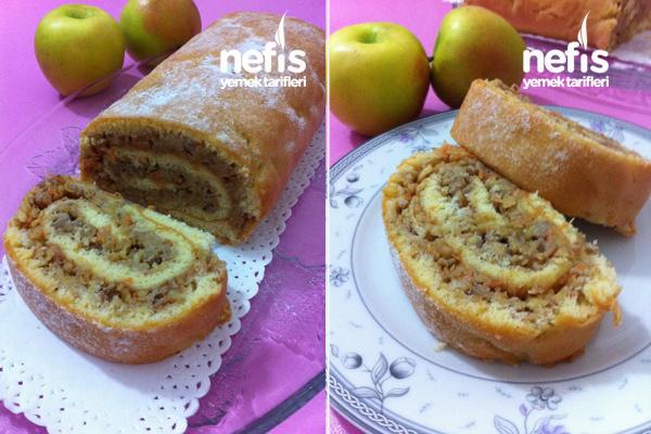 Elmalı Rulo Pasta Tarifi 4