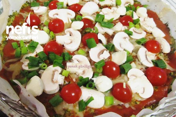 Hamursuz Brokoli Pizzası 4