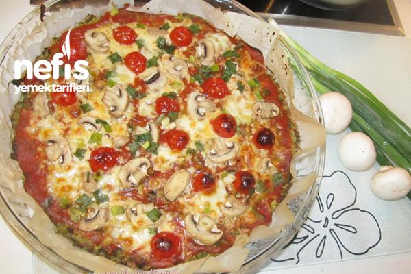 Hamursuz Brokoli Pizzası Tarifi