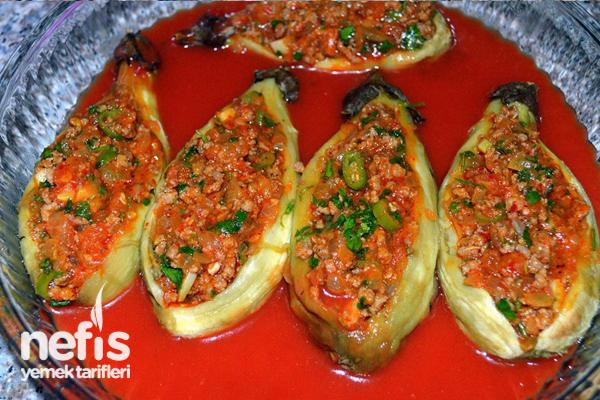 Köz Patlıcanlı Karnıyarık Tarifi 4