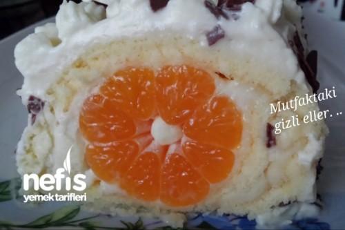 Mandalinalı Rulo Yaş Pasta Tarifi