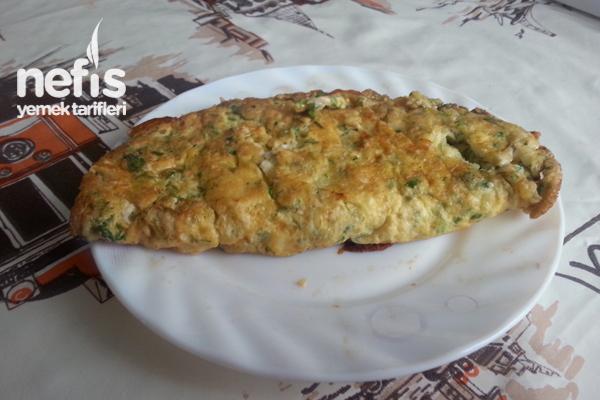 Maydanozlu,Dereotlu, Peynirli Omlet Tarifi
