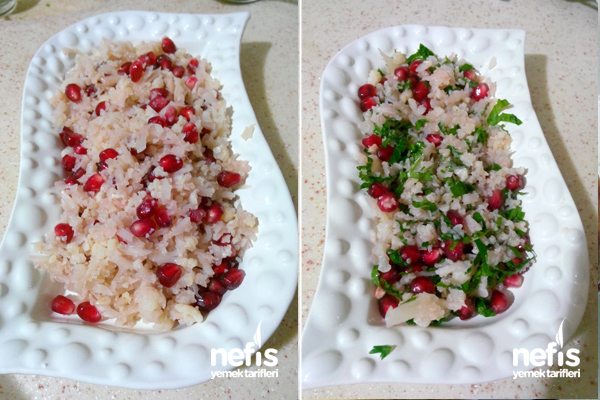 Narlı Karnabahar Salatası Tarifi ( Eşsiz Bir Lezzet)