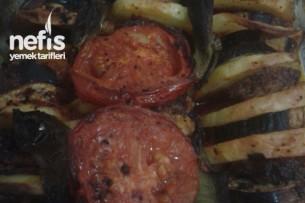 Patlıcan Patates Dizme Tarifi