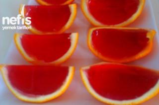 Portakal Kabuğunda Vişneli Jöle Tarifi