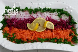 Renkli Salata Yapımı Tarifi