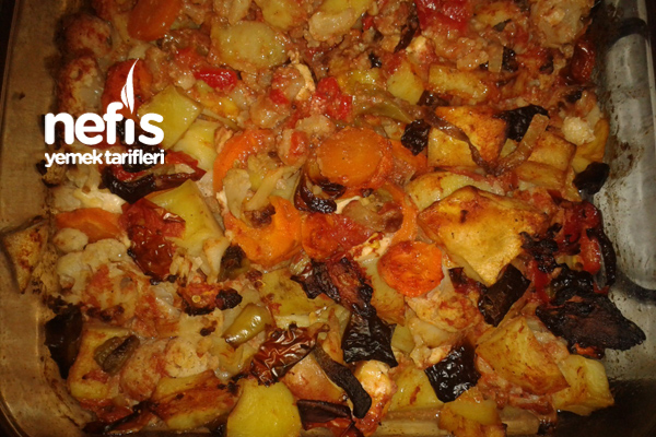 Sebzeli Fırında Karnabahar Tava Tarifi