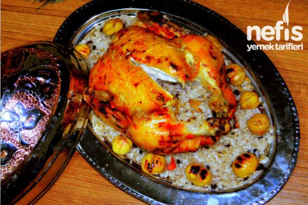 Kestaneli İç Pilavlı Tavuk Dolma Tarifi