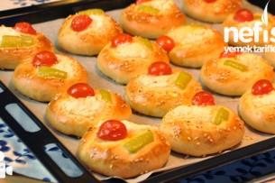 Peynirli Domatesli ve Biberli Poğaça Nasıl Yapılır?