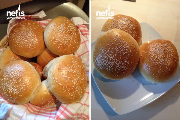 Ev Yapımı Hamburger Ekmeği Ve Eti 3