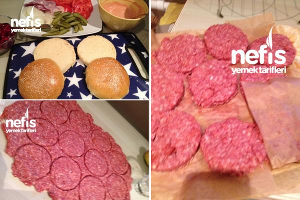 Ev Yapımı Hamburger Ekmeği Ve Eti 4