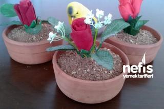 Saksıda Çiçek (Puding) Tarifi