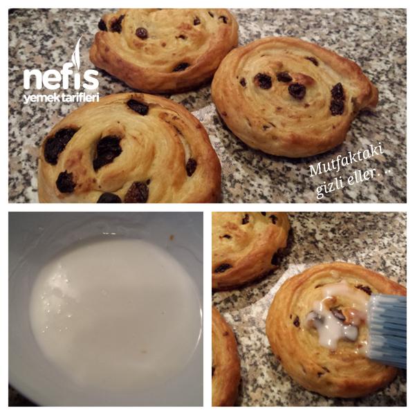 Üzümlü Çörek (Rosinenschnecke ) 3